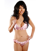 Alexis Smith Pink Polka Dot Bra Set