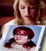 Quinn (Dianna Agron) as Lucy Caboosey pre-nose job