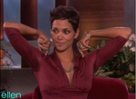 Halle Berry sweats it out on Ellen