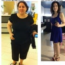 Photo from Oct 2011 weighing over 200lbs. After photo after losing 90+ lbs and 3 months after mmo! :)