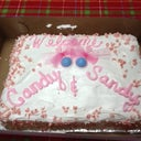 "My back to work cake for the ""twins"" Sandy and Candy!!"