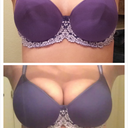 bottom is before. Top is after. Bra is a 38DD. It doesn't really fit in either photo!