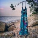 Just for fun - one I took on the beach of my fave summer dress. Spaghetti-strap, of course. ;-)