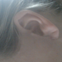 Left ear side