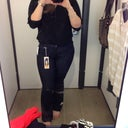 Me trying on new jeans at 8 weeks post op.