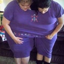 "My daughter and I In my ""FAT SUIT"" 7X"