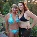 Me and my friend Char, who is also a patient of Christas.  We don't hesitate to wear bikinis anymore.