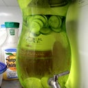 This is the cucumber water chilling in the fridge I added a few limes ...hoping this helps with the swelling....thanks to Lostin Translation ....