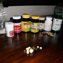Pre-Op Vitamins which include Vitamins E,C,D, B-Complex, Fish Oil, Folic Acid Bromelin and Iron (taken daily)