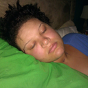 hubby took pic of me sleeping... i think i moved too much last night cuz it was bleeding a bit around a drain entrance